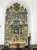 BUENOS AIRES, ARGENTINA - 26 DE JANEIRO DE 2015: Interior da igreja em San T foto de stock royalty free