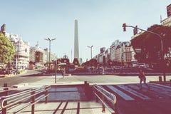 BUENOS AIRES, ARGENTINA - 30 DE JANEIRO DE 2018: O obelisco é um major Fotografia de Stock Royalty Free