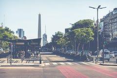 BUENOS AIRES, ARGENTINA - 30 DE JANEIRO DE 2018: O obelisco é um major Imagem de Stock Royalty Free