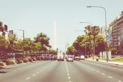 BUENOS AIRES, ARGENTINA - 30 DE JANEIRO DE 2018: O obelisco um major Imagem de Stock