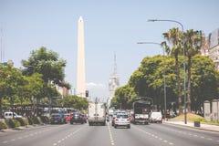 BUENOS AIRES, ARGENTINA - 30 DE JANEIRO DE 2018: O obelisco um major Foto de Stock