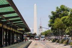 BUENOS AIRES, ARGENTINA - 30 DE JANEIRO DE 2018: O obelisco um major Fotografia de Stock Royalty Free