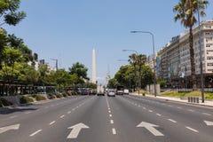 BUENOS AIRES, ARGENTINA - 30 DE JANEIRO DE 2018: O obelisco um major Fotografia de Stock