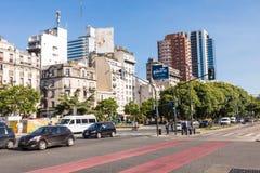 BUENOS AIRES, ARGENTINA - 30 DE JANEIRO DE 2018: O obelisco um major Fotos de Stock