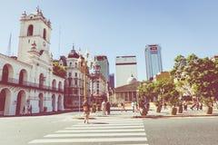 BUENOS AIRES, ARGENTINA - 30 DE JANEIRO DE 2018: O obelisco um major Imagem de Stock Royalty Free