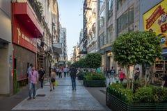 Calle Florida Florida Street - Buenos Aires, Argentina. Buenos Aires, Argentina - Feb 04, 2018: Calle Florida Florida Street - Buenos Aires, Argentina Stock Photos