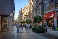 Calle Florida Florida Street - Buenos Aires, Argentina. Buenos Aires, Argentina - Feb 04, 2018: Calle Florida Florida Street - Buenos Aires, Argentina Royalty Free Stock Photography