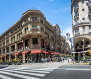 Galerias Pacifico and Calle Florida Florida Street - Buenos Aires, Argentina. Buenos Aires, Argentina - Feb 10, 2018: Galerias Pacifico and Calle Florida Florida Royalty Free Stock Image