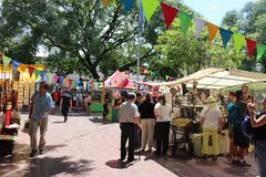 San Pedro Telmo Fair in Buenos Aires, Argentina Royalty Free Stock Photography