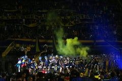 Boca Juniors Champion of the 2017 tournament royalty free stock photos