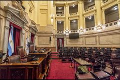 Argentinian Senate at National Congress of Argentina - Buenos Aires, Argentina Royalty Free Stock Photo