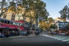 Bar and restaurants at Palermo Soho bohemian neighborhood - Buenos Aires, Argentina. Buenos Aires, Argentina - May 11, 2018: Bar and restaurants at Palermo Soho royalty free stock image