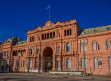 BUENOS AIRES, ARGENTINA - MAY 02, 2016: casa rosada,pink house, is the place where the president of argentina works and Royalty Free Stock Photo