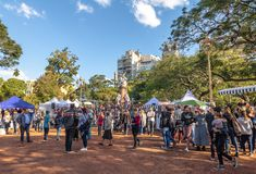 French Fair at Plaza Francia - Buenos Aires, Argentina Stock Images
