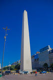 BUENOS AIRES, ARGENTINA - MAY 02, 2016: the obelisk of buenos aires is an iconic building with a height of 67,5 m Stock Photos