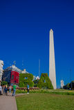 BUENOS AIRES, ARGENTINA - MAY 02, 2016: the obelisk of buenos aires is a traditional and historic building located in Royalty Free Stock Photography
