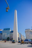 BUENOS AIRES, ARGENTINA - MAY 02, 2016: the obelisk, iconic monument of the city builded in 1963, located in plaza de la. Republica royalty free stock image