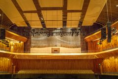 Pipe Organ of Symphonic Concert Hall at Kirchner Cultural Centre CCK - Buenos Aires, Argentina royalty free stock images