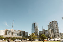 BUENOS AIRES, ARGENTINA - MAYO 09, 2017: Skyscrapers, modern hig. H rise apartments and office buildings,  towers in puerto madero capital federal buenos aires Stock Photo