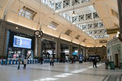 Retiro train station in Buenos Aires Stock Image