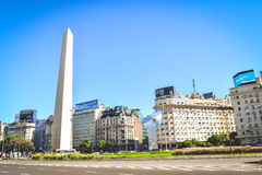 BUENOS AIRES - ARGENTINA: The Obelisk in Buenos Aires, Argentina. The Obelisk in Buenos Aires, Argentina Royalty Free Stock Photo