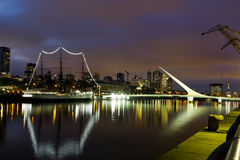 Buenos Aires, Argentina. Puerto Madero by night Royalty Free Stock Images