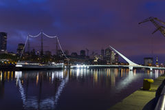 Buenos Aires, Argentina. Puerto Madero by night Royalty Free Stock Photo