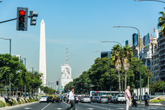 Buenos Aires, Argentine - 9 avril 2015 : Affaires non identifiées p Photos stock