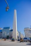 BUENOS AIRES ARGENTYNA, MAJ, - 02, 2016: obelisk, ikonowy zabytek miasto builded w 1963, lokalizuje w placu de losie angeles Obraz Royalty Free