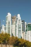 BUENOS AIRES ARGENTYNA, MAYO, - 09, 2017: Drapacze chmur, nowożytny hig Fotografia Royalty Free