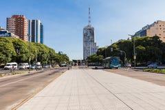 BUENOS AIRES ARGENTYNA, STYCZEŃ, - 30, 2018: Lipa 9th aleja wewnątrz zdjęcia stock