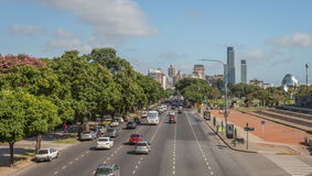 Buenos Aires Avenue stock photography