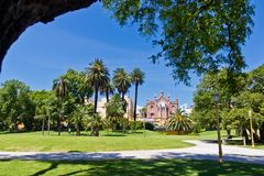 Buenos Aires Barrio Norte Parc Recoleta. In summer in South America in Argentina royalty free stock photography