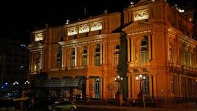 Buenos Aires berömt kolonteaterTeatro kolon royaltyfri fotografi