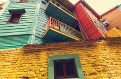 Buenos Aires. Bright colors of Caminito in La Boca neighborhood of Buenos Aires royalty free stock image