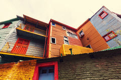 Buenos Aires. Bright colors of Caminito in La Boca neighborhood of Buenos Aires stock photography