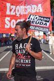 Buenos Aires, C A B A , Argentina - 30 de novembro de 2018: protesto da cimeira g20, Buenos Aires fotos de stock royalty free