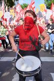 Buenos Aires C A B A , Argentina - November 30, 2018: protest för toppmöte g20, Buenos Aires royaltyfri foto