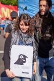 Buenos Aires C A B A , Argentina - November 30, 2018: protest för toppmöte g20, Buenos Aires arkivfoton