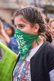 Buenos Aires, C A B A , Argentyna, Marzec - 8, 2019: 8M protestacyjne kobiety obrazy royalty free