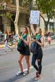 Buenos Aires, C A B A , Argentyna, Marzec - 8, 2019: 8M protestacyjne kobiety zdjęcia royalty free