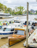 Buenos Aires canal, boats. Royalty Free Stock Photos