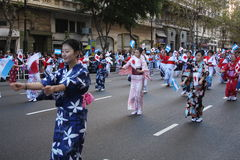 Buenos Aires celebra Japón 16. A japanese parade made to salute Argentina in its 200º anniversary stock images