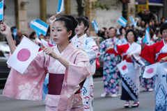 Buenos Aires celebra Japón 21. A japanese parade made to salute Argentina in its 200º anniversary stock photos