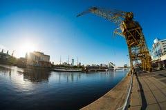 Puerto Madero skeppsdockor i Buenos Aires Arkivfoto