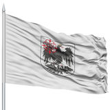 Buenos Aires City Flag on Flagpole Stock Image
