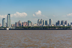 Buenos Aires City from the Rio de la Plata river. South America Royalty Free Stock Images