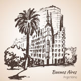 Buenos Aires cityscape. Argentina. Sketch. Stock Image