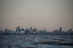 Buenos Aires cityscape at Dusk. Royalty Free Stock Images