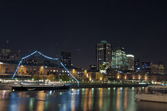 Buenos Aires - Puerto Madero Night Stock Image